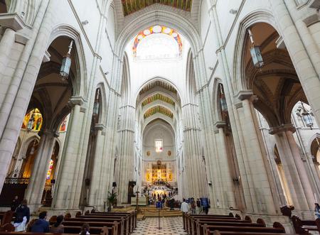 MADRID, SPAIN - APRIL 25: Interior of Almudena Cathedral in April 25, 2013 in Madrid, Spain.  Santa Maria la Real de La Almudena is Catholic cathedral - main church of Spain