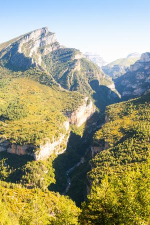 Pyrenees Mountains landscape - Anisclo Canyon. Huesca, Aragon