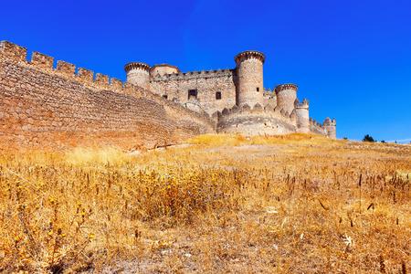 cuenca: Gothic Mudejar castle in Belmonte.  Cuenca, Spain