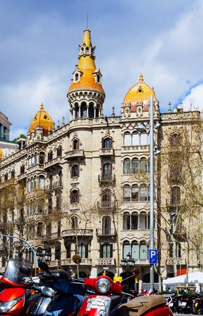 Pons houses, built in 1890–1891 by architect Enric Sagnier  Barcelona, Spain