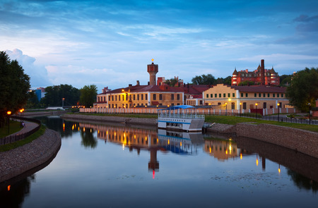 historical district of Ivanovo in summer evening. Russia photo