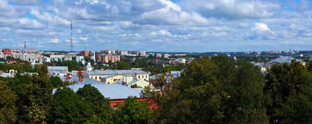 residential settlement: panoramic view of  Vladimir in summer. Russia Stock Photo