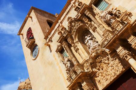 santa maria: Close-up of Basilica de Santa Maria. Alicante