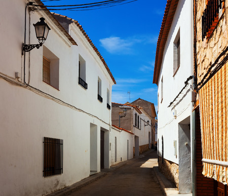 olden day: narrow street of El Toboso. Spain