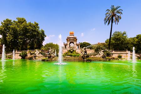Cascada fountain  in Barcelona. Catalonia, Spain photo