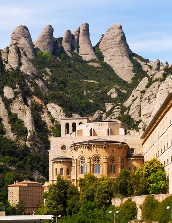 santa maria:  Santa Maria de Montserrat monastery in spring. Barcelona