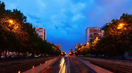 paseo: Paseo de la Castellana - most important street at Chamartin district. Madrid, Spain