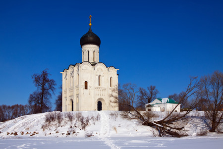 bogolyubovo: Church of the Intercession on the River Nerl. Inscribed in the Wold Heritage List of UNESCO