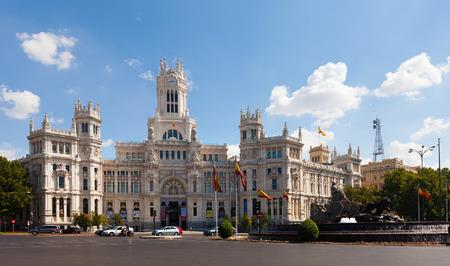 palacio de comunicaciones: MADRID, SPAIN - AUGUST 29: Palace of Communication on August 29, 2013 in Madrid, Spain. Palace of Communication, since 2011 named Cibeles Palace (Palacio de Cibeles)