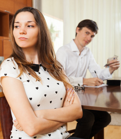 avidity: The quarrel in family having a financial problems