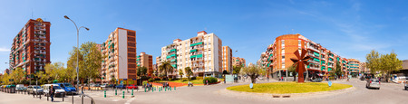 3rd century: BARCELONA, SPAIN - APRIL 13: Panoramic view of La Salut district of Badalona in April 13, 2013 in Barcelona, Catalonia. City was founded by the Romans in the 3rd century BC.  Population: 220,977 (2012 Census) Editorial