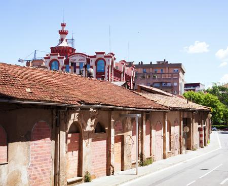 fabrica: VIC, SPAIN - JUNE 1, 2014: Old factory Sant Jordi in Vic, Catalonia  Editorial