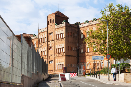 BARCELONA, SPAIN - APRIL 13, 2014: Hospital of the Holy Spirit in Santa CLoloma  de Gramenet. Barcelona, Catalonia