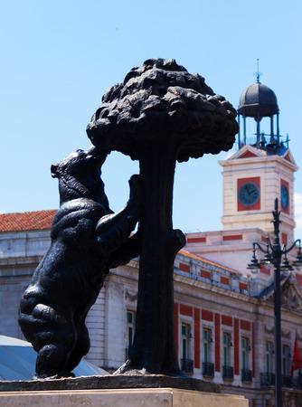 Bear and Madrono Tree at Puerta del Sol. Madrid, Spain