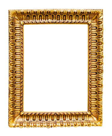Picture gilded frame. Isolated on white, may be used for photo or image Stock Photo