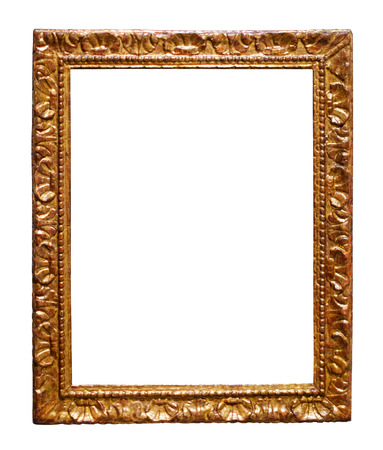gilded frame. Isolated on white, may be used for photo or image Stock Photo
