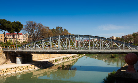 nuevo: Puente Nuevo  over Segura in sunny day. Murcia, Spain