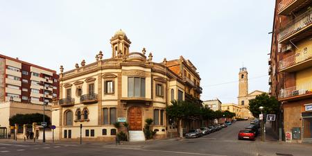 3rd century: BADALONA, SPAIN - FEBRUARY 16, 2014: Street in Badalona, Spain.  Badalona was founded by the Romans in the 3rd century BC.  Population: 220,977 (2012 Census) Editorial
