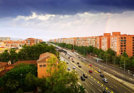 gran via: View of Barcelona, Spain. Gran Via de les Corts Catalanes