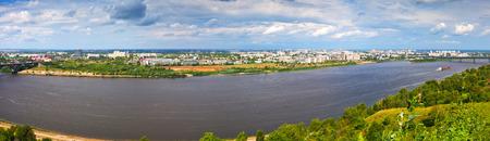 oka: Panorama of Nizhny Novgorod with Oka river. Russia