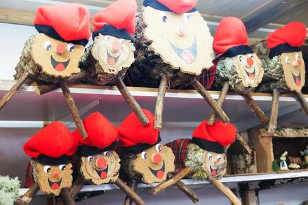 Tio de Nadal for sale on counter Banco de Imagens