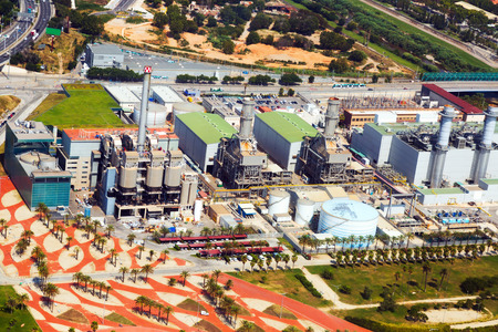industry power: Aerial view of Industry power plant. Barcelona, Spain