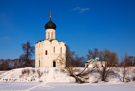 Church of the Intercession on the River Nerl in winter. Russia photo