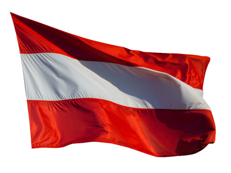 Flag of Austria. Isolated over white background photo