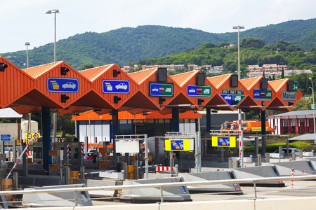 tollway: Customs toll road in Catalonia. Spain