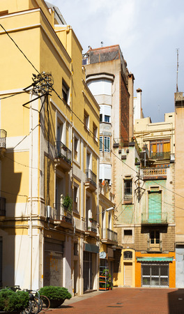 olden day: courtyard in old city.  Barcelona, Spain  Stock Photo