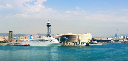cruiseliner: Main building of Port Vell. Barcelona Editorial