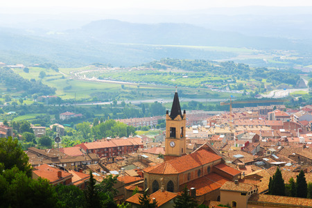 General view of Berga area in summer. Pyrenees, Catalonia