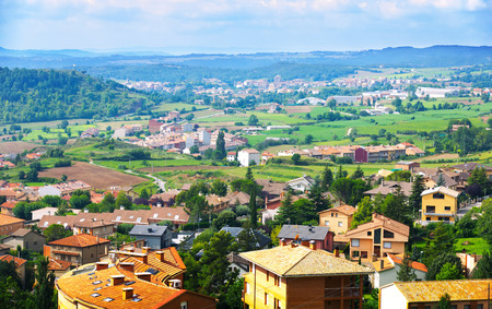 view of Berga area in summer. Catalonia, Spain