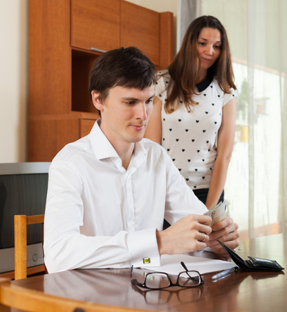 covetous: Woman asks for money from her husband for the purchase