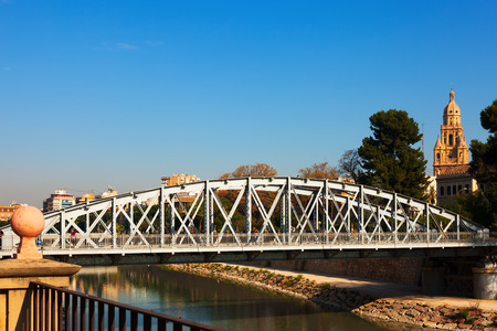 nuevo: MURCIA, SPAIN - APRIL 16, 2014: Bridge over Segura river called Nuevo Puente in spring day. Murcia, Spain Editorial