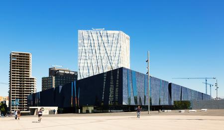 blau: BARCELONA, SPAIN - MAY 3, 2014: Exterior of  Museu Blau in Barcelona, Spain Editorial