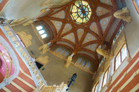 BARCELONA, SPAIN   SEPTEMBER 13, 2014: Interior Of Hospital De Sant Pau In