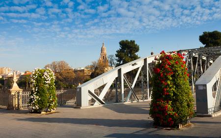 nuevo: Bridge over Segura river  called Puente Nuevo. Murcia, Spain