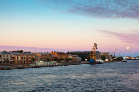 view of St. Petersburg. English Embankment in morning photo