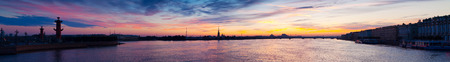 Panoramic view of Neva river in dawn. Saint Petersburg, Russia photo