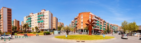 3rd century: BADALONA, SPAIN - APRIL 13: La Salut district of Badalona in April 13, 2013 in Badalona, Spain. City was founded by the Romans in the 3rd century BC.  Population: 220,977 (2012 Census)