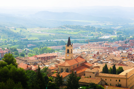 Top view of town in Pyrenees. Berga,  Catalonia