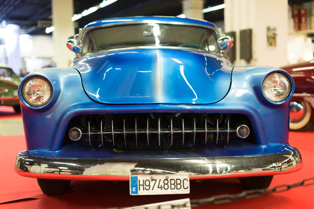 17th: BARCELONA, SPAIN - OCTOBER 3, 2014: Classical vintage  automobile at exhibition. The 17th edition of The Barcelona Tattoo Expo