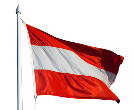Flag of Austria. Isolated over white photo