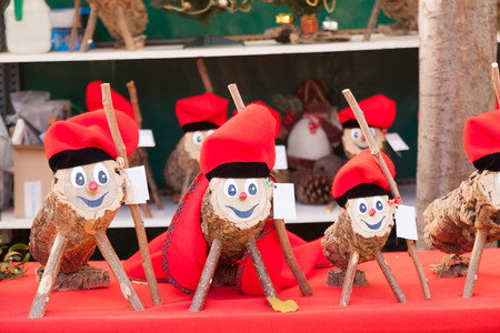 Tio de Nadal for sale on Christmas market