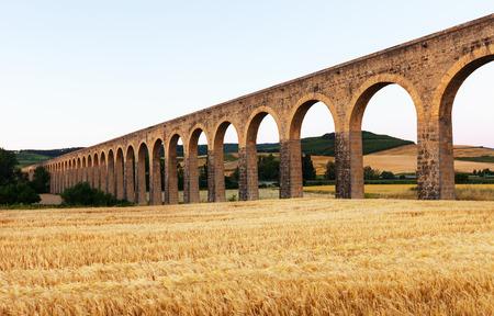 navarre: Noain aqueduct near Pamplona. Navarre