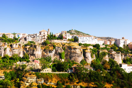 cuenca: Picturesque view with residence houses in Cuenca