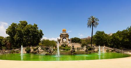 Cascada fountain at Parc de la Ciutadella in Barcelona. Catalonia, Spain photo