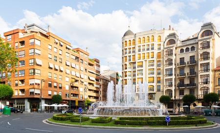 provisional: Plaza Alferez Provisional with fontain in Logrono. La Rioja, Spain