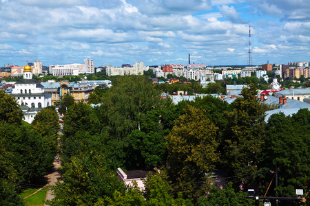 residential settlement: Top view of old Vladimir. Russia